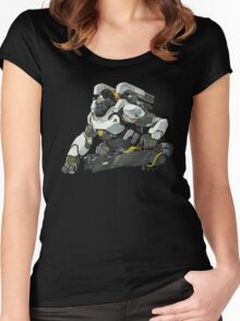 Overwatch - Winston Stance Women's Fitted Scoop T-Shirt