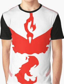 Pokemon - Pokemon GO Team Valor Logo (Red) Graphic T-Shirt