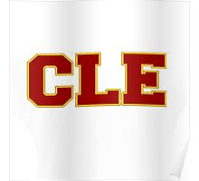 CLE Clevland New Basketball Poster