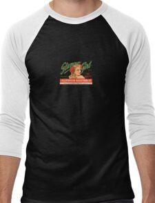 Pin Up Vegetables Logo Men's Baseball ¾ T-Shirt