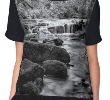 Ledge Falls, No. 3 bw Chiffon Top