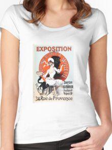 Vintage Jules Cheret 1896  Exposition de A Willette Women's Fitted Scoop T-Shirt