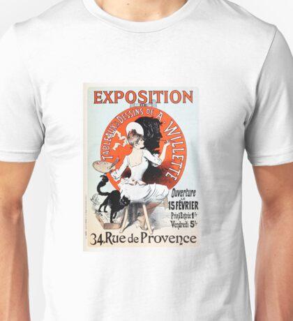Vintage Jules Cheret 1896  Exposition de A Willette Unisex T-Shirt