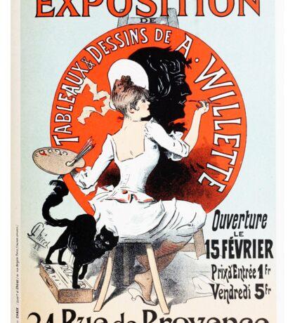 Vintage Jules Cheret 1896  Exposition de A Willette Sticker