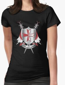 maltese Womens Fitted T-Shirt