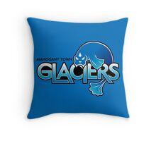 Mahogany Town Glaciers Throw Pillow