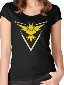Pokemon - Pokemon GO Team Instinct Logo (Yellow) Women's Fitted Scoop T-Shirt