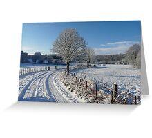 Snowy walk Greeting Card