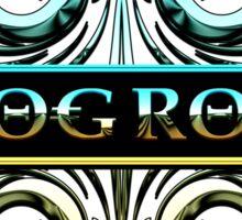 PROG ROCK - white background Sticker