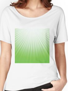 green rays background Women's Relaxed Fit T-Shirt