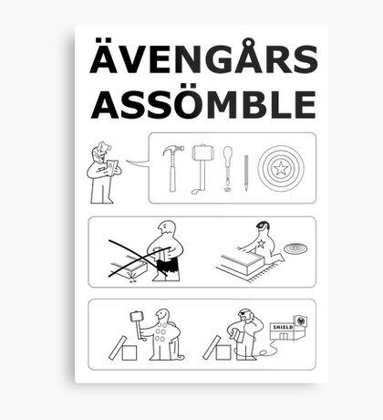 Superheroes Assembling Metal Print