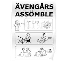 Superheroes Assembling Poster