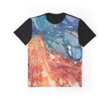 Broken Glass Watercolor Duality Mosaic Graphic T-Shirt