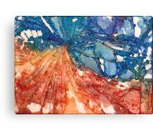 Broken Glass Watercolor Duality Mosaic Canvas Print