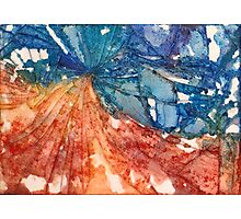 Broken Glass Watercolor Duality Mosaic Photographic Print
