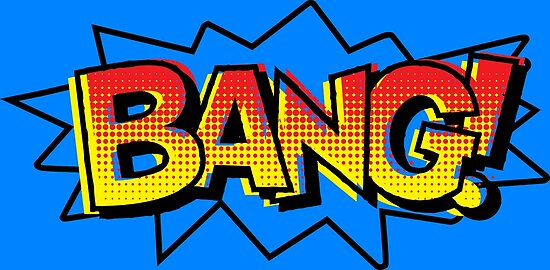Bang comic onomatopoeia quot posters by gtdesigns redbubble
