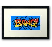 BANG! Comic Onomatopoeia  Framed Print