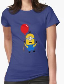 minion and ballon Womens Fitted T-Shirt