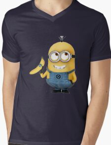minion and banana Mens V-Neck T-Shirt