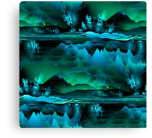 Residual Worlds (green) Canvas Print