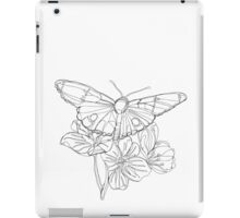 Butterflies and Flowers Continuous Line Drawing iPad Case/Skin