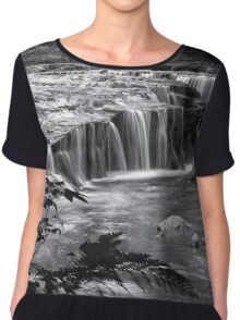 Ledge Falls, No. 4 bw Chiffon Top