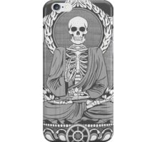 Skeleton Buddha White Halftone iPhone Case/Skin