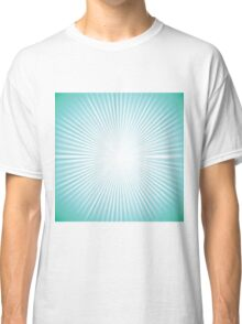 green rays background Classic T-Shirt