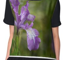 Free Ranging Wild Iris Chiffon Top