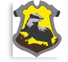 Hufflepuff House Crest Canvas Print