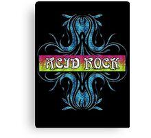 ACID ROCK - black background Canvas Print