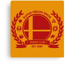 Smash Club -(Red) Canvas Print