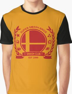 Smash Club -(Red) Graphic T-Shirt