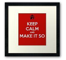 Keep Calm Captain Picard Framed Print