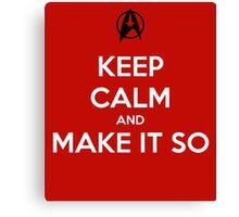 Keep Calm Captain Picard Canvas Print