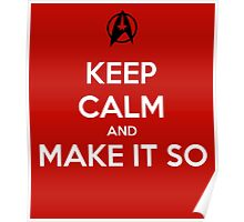 Keep Calm Captain Picard Poster