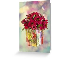 Hide And Seek - Zinnias Greeting Card