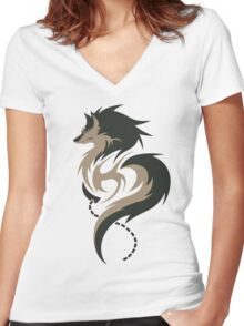 Hour of Twilight - Wolf Link Women's Fitted V-Neck T-Shirt