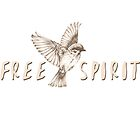 Free Spirit Flying Sparrow Bird by VisionQuestArts