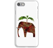 Pattern applique Elephant. iPhone Case/Skin