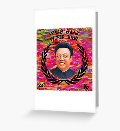 Wang Gang World Tour II Greeting Card