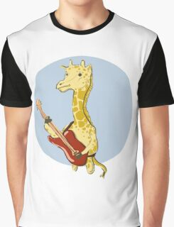 Giraffes Love Music Graphic T-Shirt