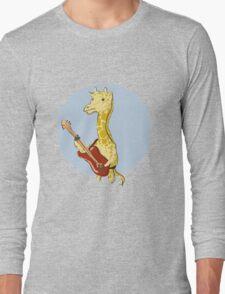 Giraffes Love Music Long Sleeve T-Shirt