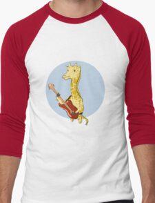 Giraffes Love Music Men's Baseball ¾ T-Shirt