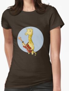 Giraffes Love Music Womens Fitted T-Shirt