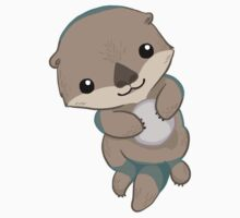 Cute Otter Pup Kids Clothes