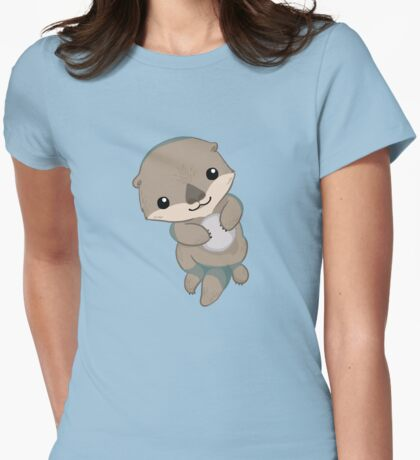 Cute Otter Pup Womens Fitted T-Shirt