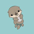 Cute Otter Pup by Veronica Guzzardi