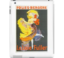 Vintage Jules Cheret 1896 La Loie Fuller iPad Case/Skin