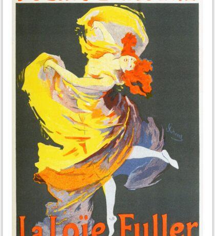 Vintage Jules Cheret 1896 La Loie Fuller Sticker